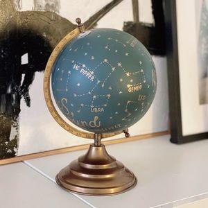 Anthropologie Hand Painted Constellation Globe